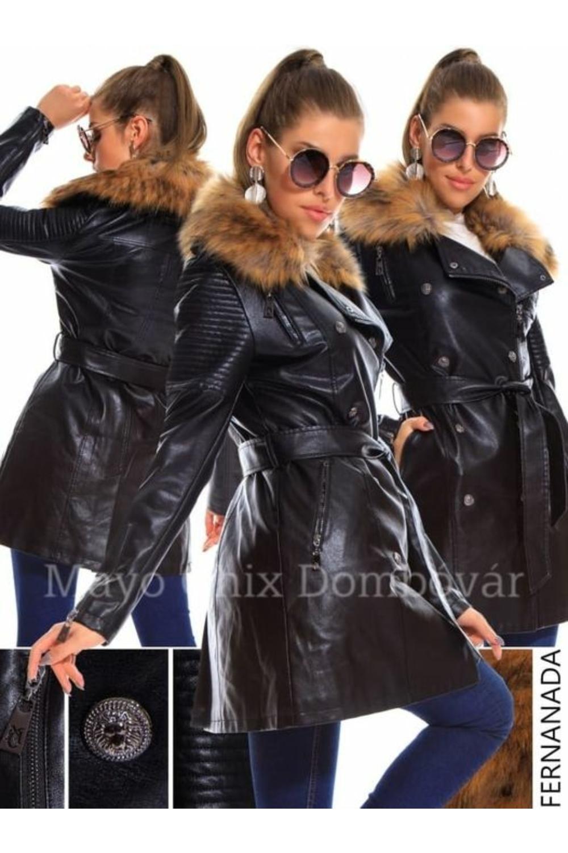 MC Fernanda műbőr kabát